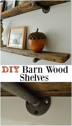 barn wood shelves pinterest 5