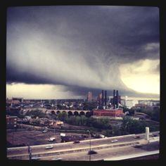 Storms in Minneapolis,  Minnesota. #badass