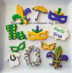 Mardi Gras cookies - Kookie Kreations by Kim