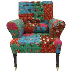 Patchwork Armchair Multi now featured on Fab by Rug Collective