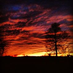 #Indiana #sunset from my front porch 1/15/13