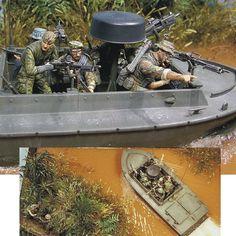 Wolves of Delta Part 1  scale: 1:35  Modeler: Santiago Tre Calavia  From: diorama.ru  #soldier #soldados #soldiers #river #delta #rio #scalemodel #plastimodelismo #war #guerra #guerre #bataille #modelismo #plasticmodel #plastimodelo #plastickits #usinadoskits #udk #miniatura #miniature #maqueta #maquette #modelismo #modelism #modelisme #diorama #dio