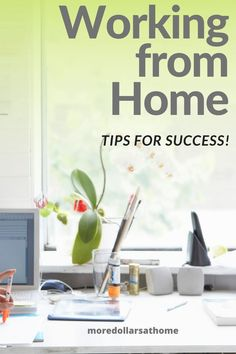 Get these top tips for working from home successfully. Whether you work from home for a company or run your own small business, you will find these productivity tips helpful! #workfromhome #organization #productivity Make More Money, Make Money Blogging, Money Saving Tips, Extra Money, Work From Home Tips, Earn From Home, Make Money From Home, Job Work, Create A Budget