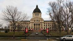 South Dakota State Capitol: Pierre. Built: 1905-1911. Architectural Style: Colonial Revival, Classical Revival, Renaissance.