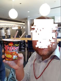 "Work sponsored a ""Spicy Noodle Challenge"" using the 4th hottest instant noodles from Korea. #spicy #food #hot #foodporn #delicious #yummy #foodie #dinner #dirty"