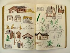 Sketchbooks by Holly Wales of Finnhamn, Sweden