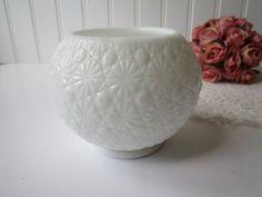 Vintage Daisy and Button Milk Glass Ball Vase by mymilkglassshop, $14.50