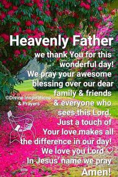 A prayer for evening Daily Morning Prayer, Blessed Morning Quotes, Good Morning God Quotes, Good Morning Prayer, Good Morning Inspirational Quotes, Morning Greetings Quotes, Inspirational Prayers, Morning Blessings, Good Morning Messages