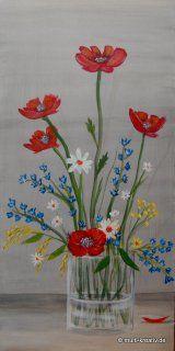 Acrylmalerei, Vase mit Wildblumen
