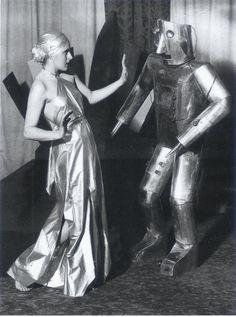 Robot / Retro Futureism / Vintage Future / Silver Dress / Robot Dance / Past