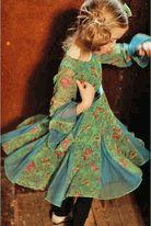 I Love Gorgeous Beautiful Green Holiday Trumpet Sleeve Dress
