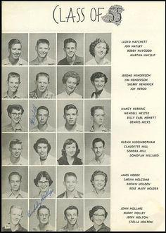 Buddy Holly, Class of '55 Lubbock High School, Lubbock, Texas!!