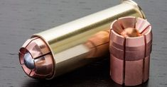 This is the new 12 gauge shotgun round by Oath Ammunition. This would take your shotgun to a whole new level of self & home defense. Home Defense, Self Defense, Rifles, Shotgun Slug, Fire Powers, Cool Guns, Guns And Ammo, Weapons Guns, Firearms