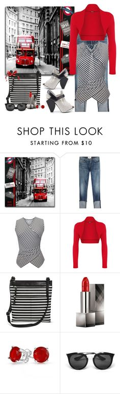 """""""casual chic"""" by susans-sg ❤ liked on Polyvore featuring Current/Elliott, WearAll, Merona, Burberry, Bling Jewelry, Prada and Abcense"""