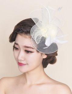 ❀ Flower Shape Feather Bridal Topper | Riccol ❤