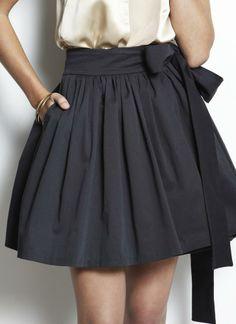 Black Wrap Skirt - Oscar Wrap Skirt | UsTrendy