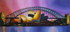 Darling Harbour Bridge #Beautiful #Handmade #Silk #Embroidery #Art 77206 http://www.queensilkart.com/100-handmade-embroidery-framed-landscape-sydneys-darling-harbour-bridge-77206/