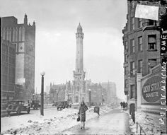 Chicago Water Tower ~ one of the ONLY buildings which did not burn during the great Chicago fire of 1871. Description from pinterest.com. I searched for this on bing.com/images