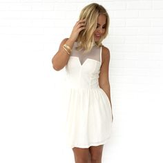 Sealed With A Kiss Dress In Ivory