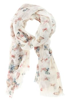 Super soft Lightweight Scarf Shawl  Flower Pattern with Sparkly  Butterfly