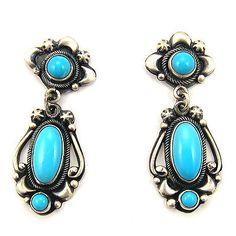 SLEEPING BEAUTY Turquoise Earrings by Ray Bennett $390.00