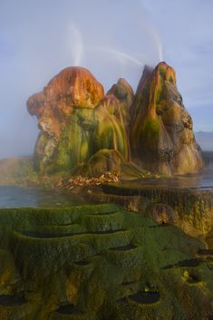 Fly Geyser in the Black Rock Desert, Nevada.
