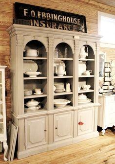 Shine Your Light: Kitchen Dish Cabinets
