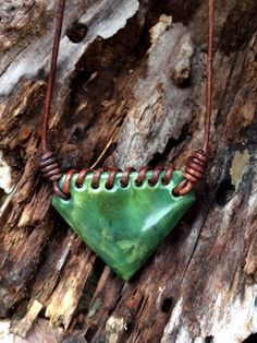 Alaska Jade and Leather Necklace by SmithNJewels on Etsy