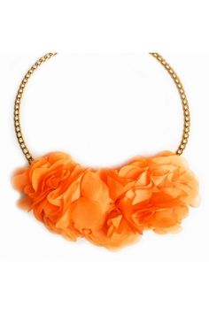 Collar Magia floral naranja WWW.ALEJANDRAVALDIVIESO.COM