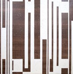 Burnt Umber & Off White, acrylics on canvas 2 x 2m by Timna Woollard