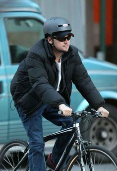 When he wore a helmet AND a hat like a AN AWESOME DUDE.