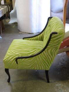 refinished images | ... refinished the frame to a dark, almost black finish. Then the chair