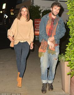 Alessandra Ambrosio is spotted on rare dinner outing with photographer fiancé Jamie Mazur | Daily Mail Online