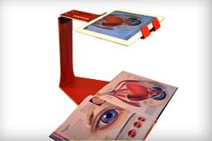 A very cool IPAD stand that turns the iPad into a document camera, holds it in a nice position for presentations and also video lesson use. Ipad Holder, Tablet Holder, Tablet Stand, Ipad Stand, Art Classroom, Classroom Organization, Classroom Ideas, Document Camera, Making Life Easier