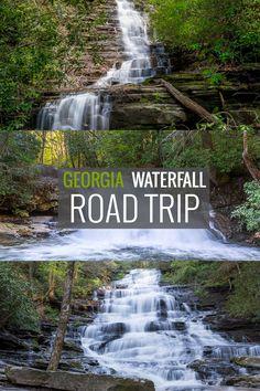 Georgia waterfall road trip: hike to four beautiful falls at Lake Burton and Lake Rabun #roadtrip #tips #GA