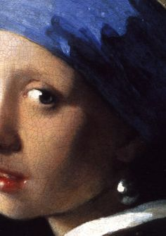 """The Girl with the Pearl Earring"", (detail) c.1665, Johannes Vermeer."
