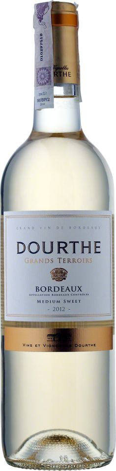 Grand Terroirs Bordeaux Moelleux A.O.C. Białe wino o aromatach miodu, akacji i kandyzowanych owoców. Jego finisz jest cudowny i długo pozostający. #Wino #Bordeaux #Winezja #SauvignonBlanc Saint Emilion, Sauvignon Blanc, Wine, Bottle, Drinks, Wine Pairings, Drinking, Beverages, Flask