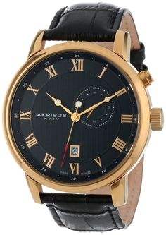Gold watches : Gold watches for men Akribos XXIV