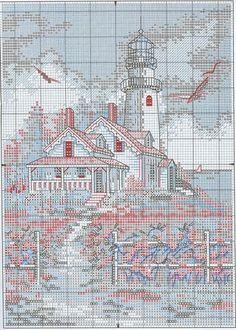 Живописный маяк | Скачать схему бесплатно