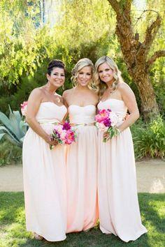 Ana - middle chick hair - 53 Cool Beach Bridesmaids' Dresses | HappyWedd.com