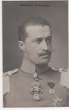 Duke Robert of Wurttemberg (1873-1947). He married royally, Archduchess and Princess Maria Immakulata of Austria-Hungary.  Sadly, they had no children.