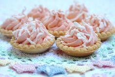 Pink Piccadilly Pastries: Easy Lemon Tartlets from Tea Time Magazine Dessert Bars, Dessert Recipes, Party Recipes, Pie Recipes, Lemon Tartlets, Coconut Tart, Barbie, Cream Tea, Tea Sandwiches