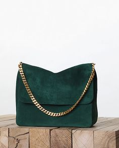 Beautiful Céline Fall 2013 forest green handbag