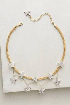 Jewelry Bohemian String of Stars Choker - Fashion Jewelry Necklaces, Cute Jewelry, Modern Jewelry, Jewelry Box, Jewellery Rings, Fashion Jewellery, Bohemian Jewelry, Sterling Silver Jewelry, Silver Ring