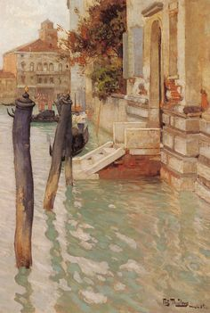 Frits Thaulow (1847-1906) - On The Grand Canal, Venice. 1885