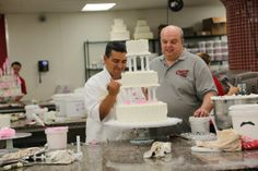 Buddy and Mauro working on a cake celebrating a wedding anniversary! Buddy is the master at pipping 50th Wedding Anniversary Cakes, Wedding Cakes, Cake Boss Bakery, Carlos Bakery, Cake Show, Icing Techniques, Sugar Icing, Cupcakes, Birthday Cake