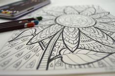 sunflower coloring book page for adults and teens; Elizabeth Gilbert quote from Big Magic; encouragement for humans; coloring meditation by HandyGalStudios on Etsy