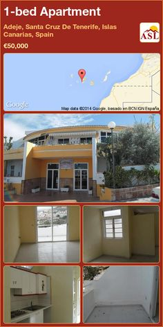 Apartment for Sale in Adeje, Santa Cruz De Tenerife, Islas Canarias, Spain with 1 bedroom - A Spanish Life Canario, Apartments For Sale, Mansions, Bedroom, House Styles, Outdoor Decor, Life, Home Decor, Canary Islands