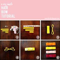 Jennifer Paul: Tutorial: A Very Simple Hair Bow