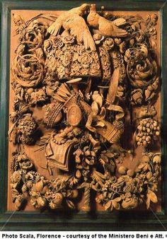 Grinling Gibbons, influenced by the Baroque style of the Netherlands, created realistic still life woodcarvings from limewood. His skill has never been surpassed.